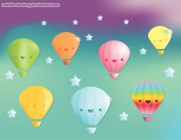 the sky of balloons by natalia-factory