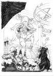 Red Sonja sketche 02. by danihell-lima