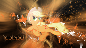 Applejack wallpaper (Black) by Cr4zyPPL