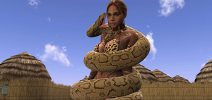 Sheva snake peril 1 by swiftbladez