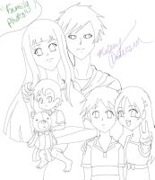 Lineart: Family Photo by inulover411