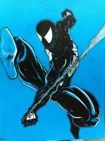 Black spiderman by Tomuribecastro