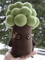 Woodland Tree Plushie by EvilZombieQueen