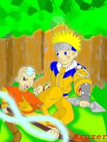 Aang Vs. Naruto by KCruzer