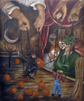 Halloween Marionettes by MichaelOrlandoArt