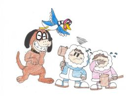 Duck Hunt and Ice Climbers by ShrekItRalph