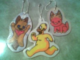 Finished Keychains by Miiroku