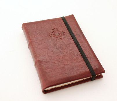 Leather Journal - Red with Celtic Cross by GatzBcn