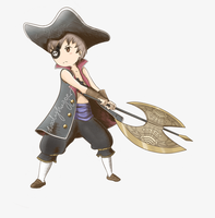 Pirate (Bravely Default: Flying Fairy) by WoolyHugger