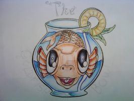 The Goldfish Bowl - close-up by tattoo-parlour