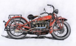 1930 Indian Four by 118shadow118