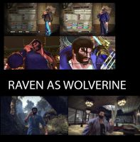 Raven as Wolverine by aaniishh12