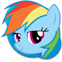 Rainbow Dash Skype Icon by BigMemoire