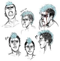 Eric Facial Expression Practice by Jazzie560