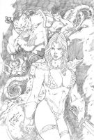 _Red Sonja vs... by JardelCruz