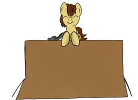Little Ced on a box by Sopada