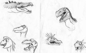 Land Before Time studies by fimoman