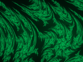 Green Flames Fractal by Wistfulwish