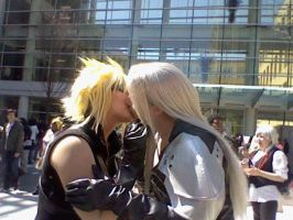 Sephiroth x Cloud by Dancing-in-Firelight