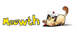 Meowth by Miniatureowl