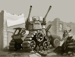 Flak Tractor by MikeDoscher