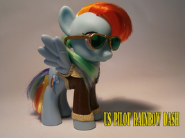 WW2 US Pilot rainbow dash by caramelpony