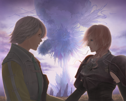 FFXIII-II Hope x Lightning by dune-art