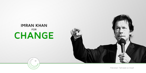 Imran Khan for Change by zainadeel