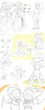 Sketch Dump: Undertale by Synccantia