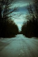 Cold road to Nowhere by msteenphotographer