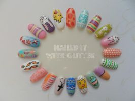 Easter 2014 wheel by NailedItWithGlitter