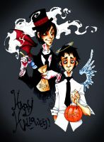 Happy Halloween 06 + color by AgentDax