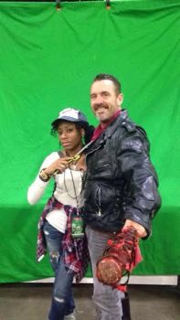 Walking Dead Cosplay Neagan and Clementine by imtruetome