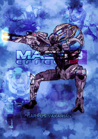 Mass Effect 3 Characters part 3 - Garrus by Sketchy-raptor