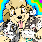 Saachi, Lenny and Skittles by Hippie30199