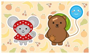 Mouse, Bear and Balloon by Anne-chan