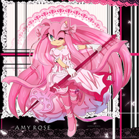 Amy Rose - mahou shoujo version by koda-soda