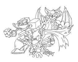 Team Nocturne: Uncolored by cailencrow