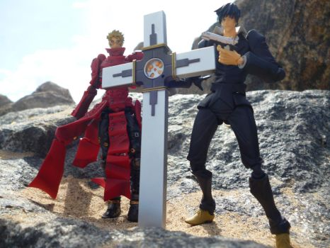 Vash and Wolfwood by Candyfloss-Unicorn