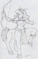 Commish: Equine Archery by BlueIke