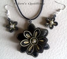 Quilled Jewellery Set by JensQuilling