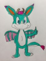 Vicky the Dragon Giving a Thumbs Up by nintendolover2010