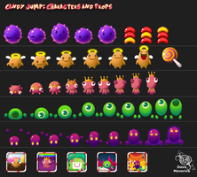 Candy Jump Characters and Props by kigamonsta