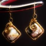 Agate square earrings by Astukee