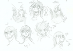 Attack On Titan face derps. by Foxfire5634