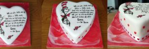 Cat in the Hat Cake (panorama) by Rebeckington