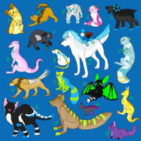 Giant mix adoptable batch by Bobheid