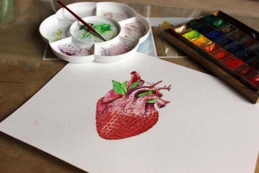 strawberry heart by kaesel