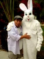 With the Easter Bunny by Pabloramosart