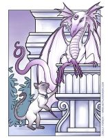 Cat and Dragon by ursulav